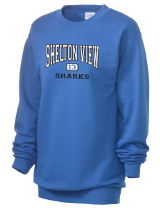 Shelton View Elementary School Sharks Unisex 7.8 oz Lightweight Crewneck Sweatshirt