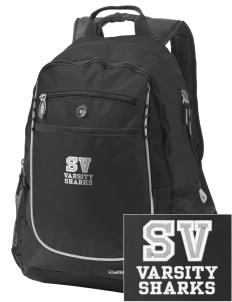 Shelton View Elementary School Sharks Embroidered OGIO Carbon Backpack