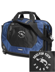 Shelton View Elementary School Sharks Embroidered OGIO Corporate City Corp Messenger Bag