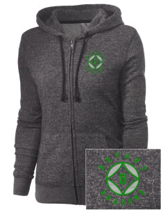Bryant Elementary School Dragons Embroidered Women's Marled Full-Zip Hooded Sweatshirt