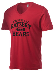 Gatzert Elementary School Bears Alternative Men's 3.7 oz Basic V-Neck T-Shirt