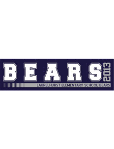 "Laurelhurst Elementary School Bears Bumper Sticker 11"" x 3"""