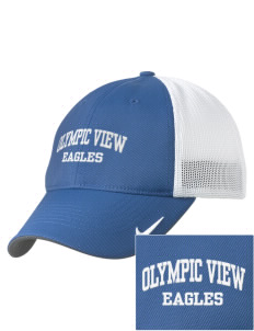 Olympic View Elementary School Eagles Embroidered Nike Golf Mesh Back Cap