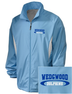 Wedgwood Elementary School Dolphins Embroidered Holloway Men's Full-Zip Jacket