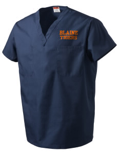 Catherine Blaine School Tigers V-Neck Scrub Top