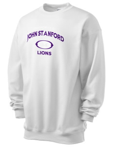 John Stanford International School Lions Men's 7.8 oz Lightweight Crewneck Sweatshirt