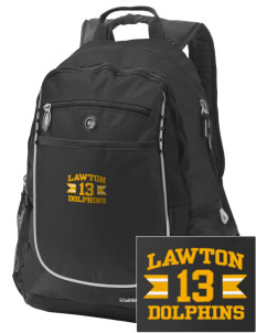 Lawton Elementary School Dolphins Embroidered OGIO Carbon Backpack