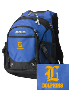 Lawton Elementary School Dolphins Embroidered OGIO Fugitive Backpack