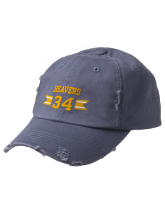 Loyal Heights Elementary School Beavers Embroidered Distressed Cap