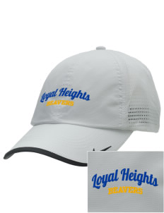 Loyal Heights Elementary School Beavers Embroidered Nike Dri-FIT Swoosh Perforated Cap