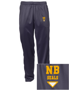 North Beach Elementary School Seals Embroidered Men's Tricot Track Pants