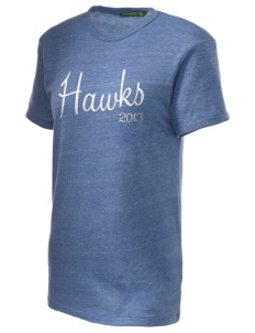 Hawthorne Elementary School Hawks Embroidered Alternative Unisex Eco Heather T-Shirt