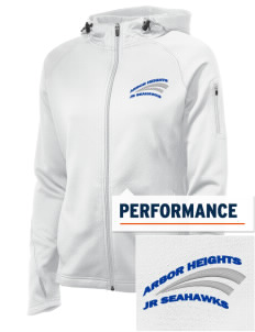 Arbor Heights Elementary School Jr Seahawks Embroidered Women's Tech Fleece Full-Zip Hooded Jacket
