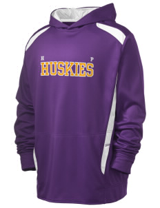 High Point Elementary School Huskies Holloway Men's Hype Performance Hooded Sweatshirt with Tackle Twill