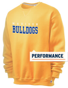 Madison Middle School Bulldogs  Russell Men's Dri-Power Crewneck Sweatshirt