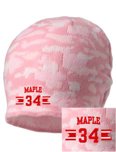 Maple Elementary School Monarch Butterflies Embroidered Camo Beanie