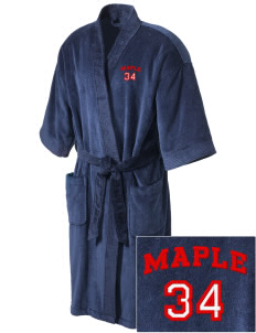 Maple Elementary School Monarch Butterflies Embroidered Terry Velour Robe