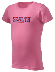 Sealth High School Seahawks  Girl's Fine Jersey Longer Length T-Shirt