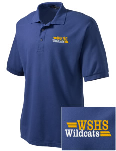 West Seattle High School Wildcats Embroidered Men's Silk Touch Polo