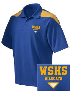 West Seattle High School Wildcats Embroidered Holloway Men's Frequency Performance Pique Polo
