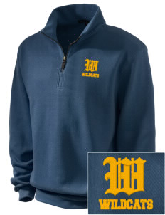 West Seattle High School Wildcats Embroidered Men's 1/4-Zip Sweatshirt