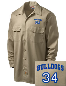 Bremerton Junior High School Bulldogs Embroidered Dickies Men's Long-Sleeve Workshirt