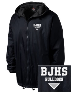 Bremerton Junior High School Bulldogs Embroidered Dickies Men's Fleece-Lined Hooded Jacket