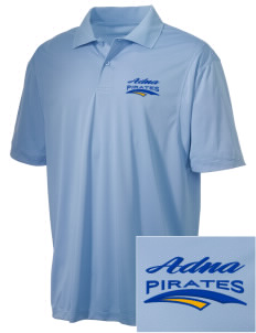 Adna Senior High School Pirates Embroidered Men's Micro Pique Polo