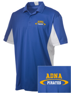 Adna Senior High School Pirates Embroidered Men's Side Blocked Micro Pique Polo