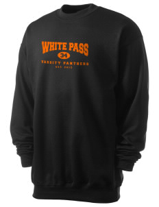White Pass Senior High School Panthers Men's 7.8 oz Lightweight Crewneck Sweatshirt