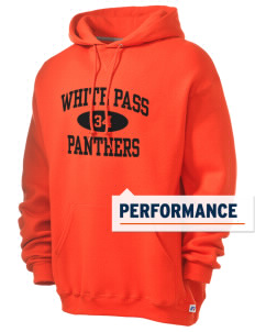 White Pass Senior High School Panthers Russell Men's Dri-Power Hooded Sweatshirt