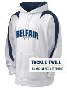 Belfair Elementary School Bobcats Holloway Men's Sports Fleece Hooded Sweatshirt with Tackle Twill