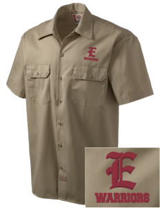 Eatonville Middle School Warriors Embroidered Dickies Men's Short-Sleeve Workshirt