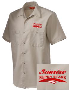 Sunrise Elementary School Super Stars Embroidered Men's Cornerstone Industrial Short Sleeve Work Shirt