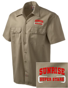 Sunrise Elementary School Super Stars Embroidered Dickies Men's Short-Sleeve Workshirt