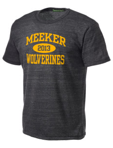 Meeker Middle School Wolverines Alternative Men's Eco Heather T-shirt