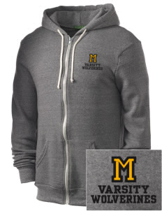 Meeker Middle School Wolverines Embroidered Alternative Men's Rocky Zip Hooded Sweatshirt