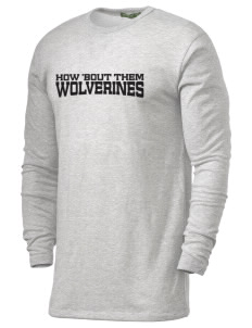 Meeker Middle School Wolverines Alternative Men's 4.4 oz. Long-Sleeve T-Shirt