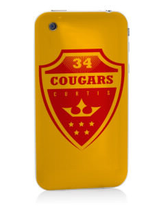 Curtis Junior High School Cougars Apple iPhone 3G/ 3GS Skin