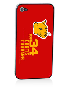 Curtis Junior High School Cougars Apple iPhone 4/4S Skin