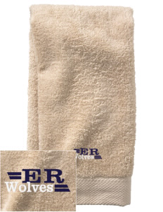 Elk Ridge Elementary School Wolves  Embroidered Zero Twist Resort Hand Towel