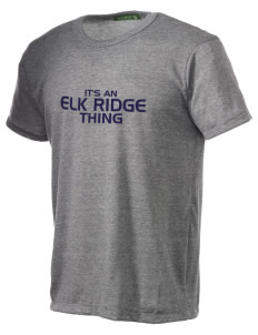 Elk Ridge Elementary School Wolves Alternative Men's Eco Heather T-shirt