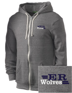 Elk Ridge Elementary School Wolves Embroidered Alternative Men's Rocky Zip Hooded Sweatshirt