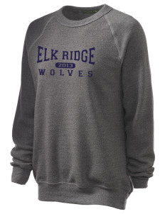 Elk Ridge Elementary School Wolves Unisex Alternative Eco-Fleece Raglan Sweatshirt