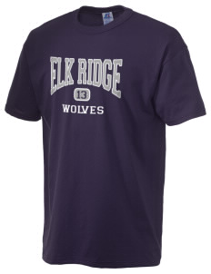 Elk Ridge Elementary School Wolves  Russell Men's NuBlend T-Shirt