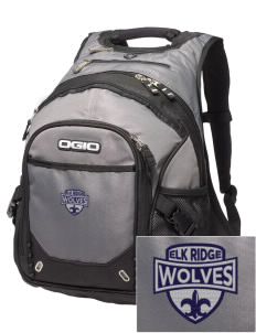 Elk Ridge Elementary School Wolves Embroidered OGIO Fugitive Backpack