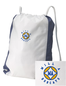 Mill A Elementary School Bobcats Embroidered Holloway Home and Away Cinch Bag
