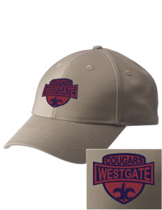 Westgate Elementary School Cougars  Embroidered New Era Adjustable Structured Cap