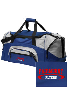 Fairmount Elementary School Flyers Embroidered Colorblock Duffel Bag