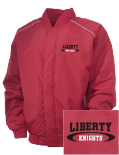 Liberty Elementary School Knights Embroidered Russell Men's Baseball Jacket